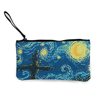 Amazon.com: Ilustración Estrella Noche Monedero Monedero de ...