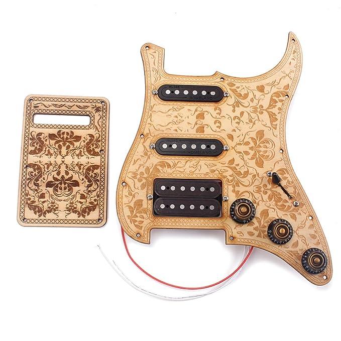 ... Alnico V Humbucker Pickups de madera de arce para proteger la parte trasera de la placa de arañazos, cubierta trasera para guitarra eléctrica ...