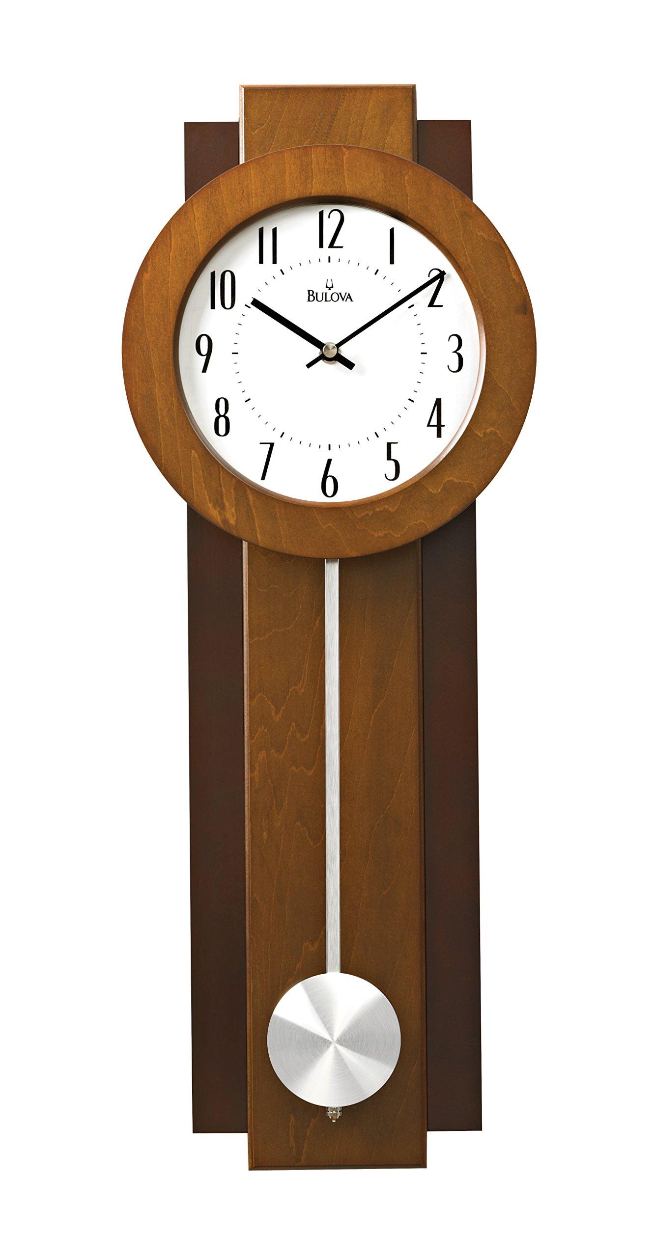 Bulova Avent Pendulum Deco Wall Clock C3383 Ebay