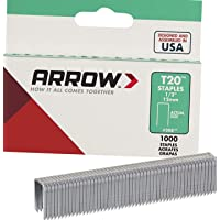 Arrow Fastener 208 Genuine T20 1/2-Inch Staples, 1,000 per Pack - 1