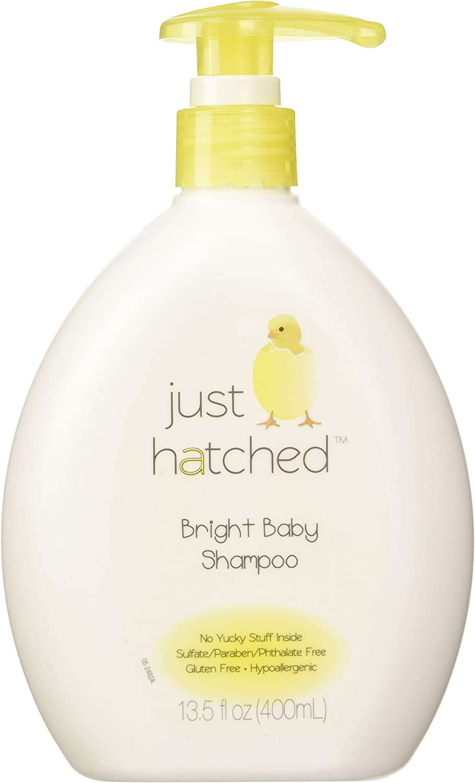 Just Hatched Bright Baby Shampoo, Loveable Yummy Fragrance, Gentle for Newborns, Hypoallergenic, Gluten Free, No Yucky Stuff/Harsh Ingredients, 13.5 fl oz