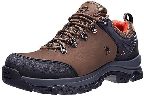 da9587723d9 CAMEL CROWN Mens Walking Shoes Hiking Boots Outdoor Trekking Low-top  High-top Non Slip Sneaker
