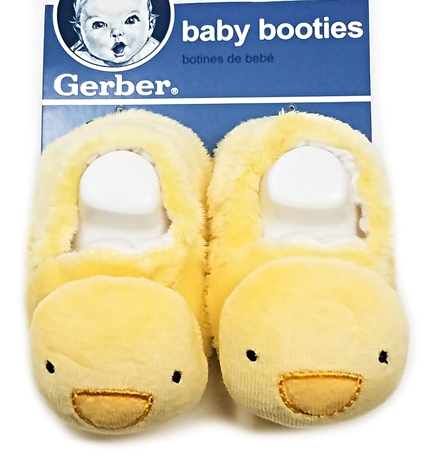 Gerber Baby Unisex Booties Yellow Duck 0-6M Size