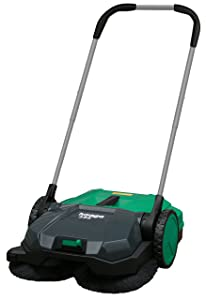 "BISSELL BigGreen BG355 Deluxe Triple Brush Push Power Sweeper, 21"", 9 gal Debris Container, 43"" Height, 21"" Width, Polypropylene, Green"