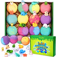 Bath Bombs for Kids with Toys Inside for Girls Boys - 12 Surprise Gift Set, Bubble Bath Fizzies Vegan Essential Oil Spa…