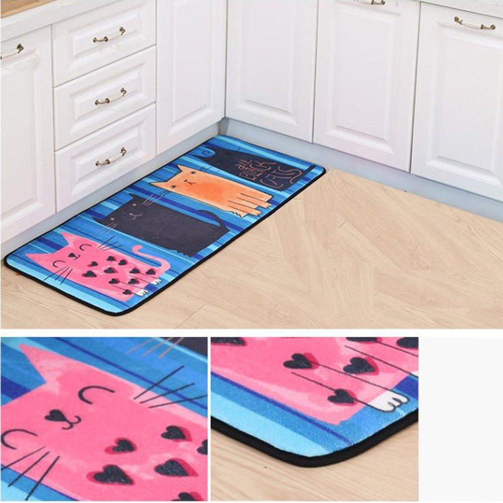 Vinmax Cartoon Doormat, Lovely Entrance Doormat Anti-slip Front Door Mat for Home Bathroom Kitchen Bedroom Living Room Carpet (C)