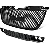 GMC Yukon ABS Plastic Round Mesh Style Front Upper+Lower Grille (Black) - GMT900