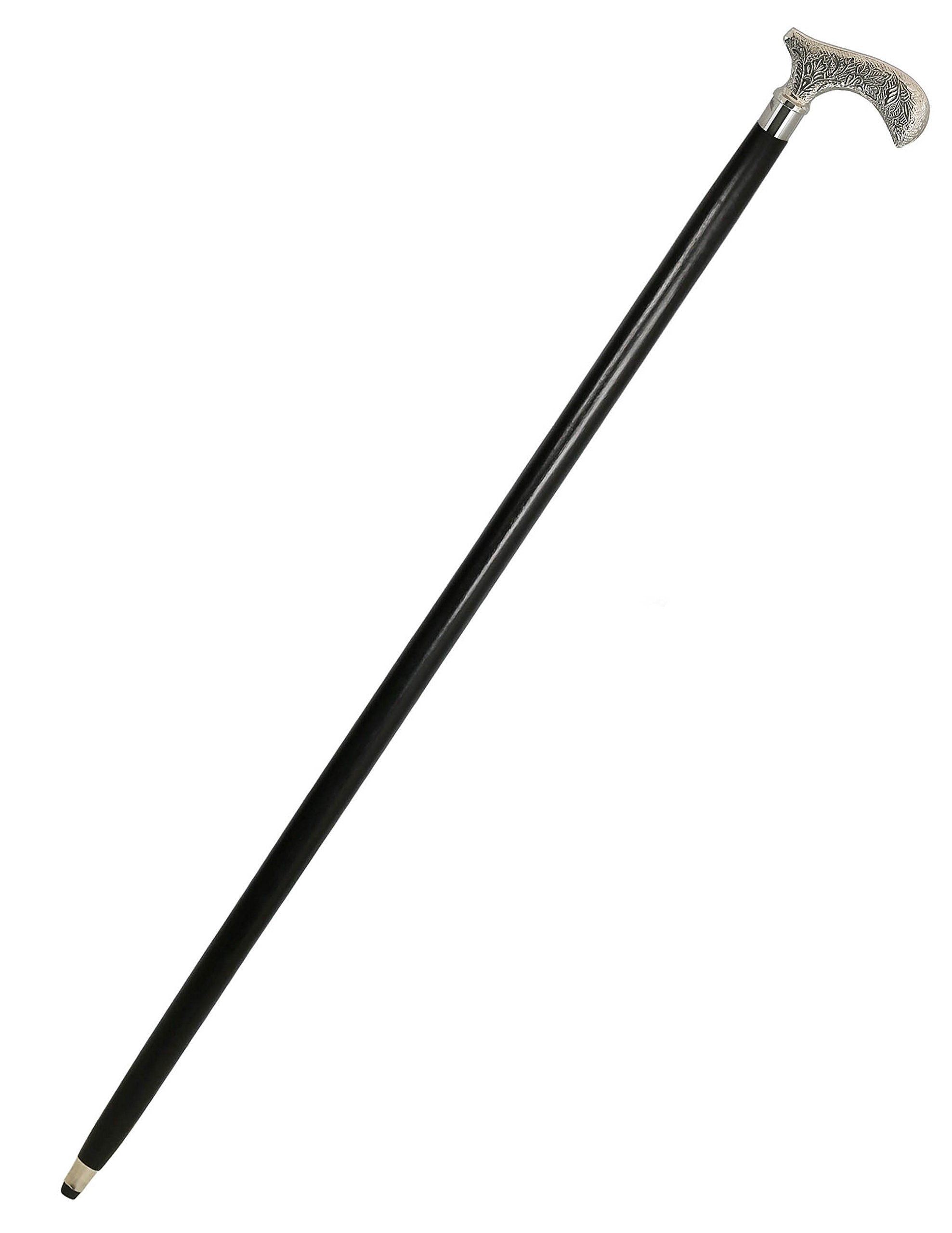 "Handmade 36"" Indian Walking Stick - Wooden Canes and Walking Sticks for Men - Walking Cane with Brass Handle"