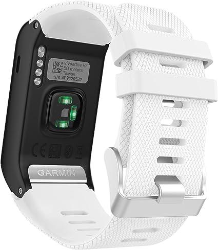 Silicone souple rapide Watchband sortie pour Garmin VivoActive HR Montre bracelet