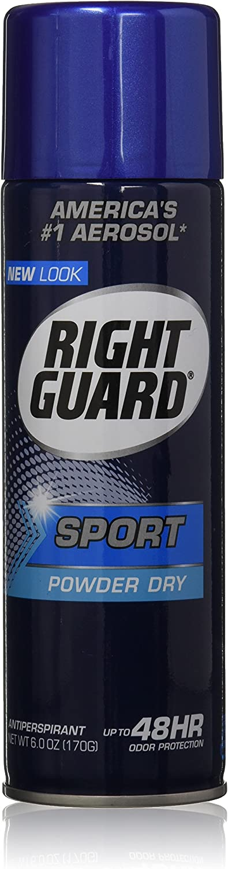 Right Guard Aerosol Sport Powder Dry Antiperspirant, 6 oz
