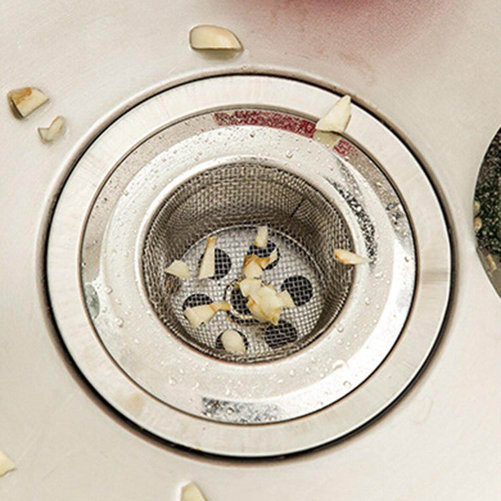 Sanwood Stainless Steel Mesh Sink Strainer Bath Hair Drain Hole Metal Flume Filter