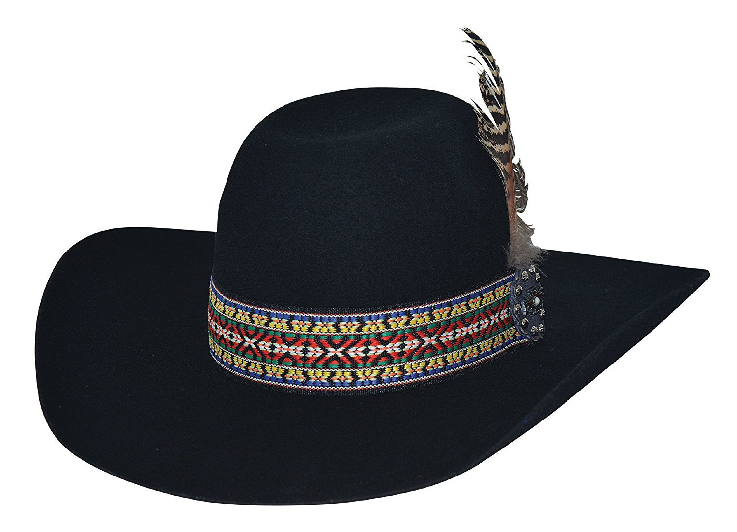 Bullhide Feather Dance Cowboys and Indians Hat 0771BL
