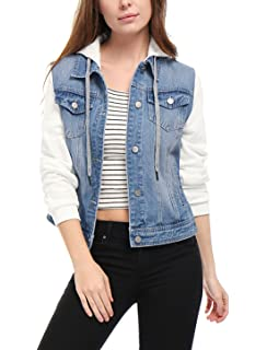 Boohoo Damen Weste Denim Gilet with Mock Hoody WZZ00677 ... 58dcf7b8aa