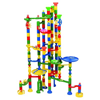 Edushape Marbulous Marble Run Track Set 202 Pieces + 50 Marbles STEM Learning Toy, Educational Construction Building Blocks Toy for Kids 6 7 8 + Year Old Boys Girls with Clear Illustrated Instructions: Kitchen & Dining