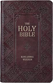 KJV Holy Bible, Giant Print Standard Bible, Dark Brown Faux Leather Bible w/Thumb Index and Ribbon Marker, Red Letter Editio