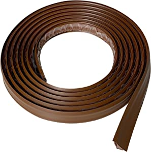 "Instatrim 3/4 Inch (Covers 3/8"" Gap) Flexible, Self-Adhesive, Caulk and Trim Strips for Floors, Ceilings, Countertops and More (Dark Brown, 10ft Long, 1 Pack)"