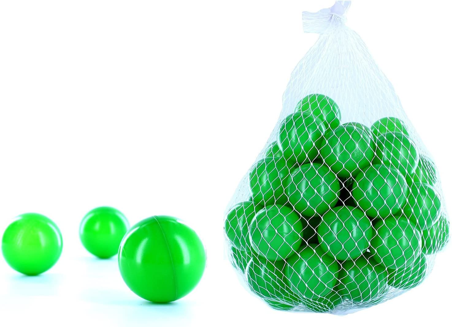 2500pelotas para pelotas de un baño en el color verde para niños, bebés o también Animales