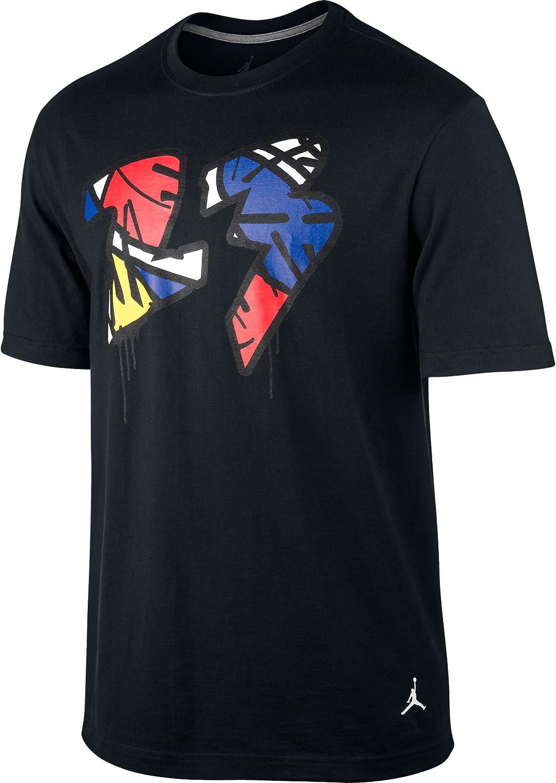 Jordan VIII Paint 23 534800-010 - Camiseta para Hombre, Color Negro, Azul, Rojo, Amarillo y Blanco - Negro - 3X-Large: Amazon.es: Ropa y accesorios