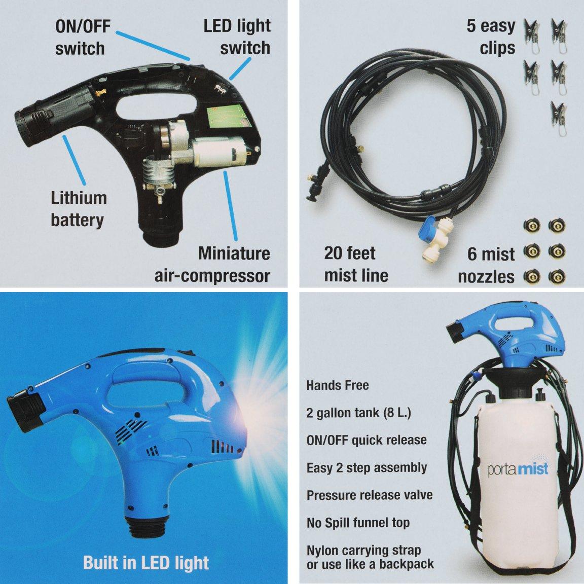 Porta Mist Portable Misting System 12V rechargeable