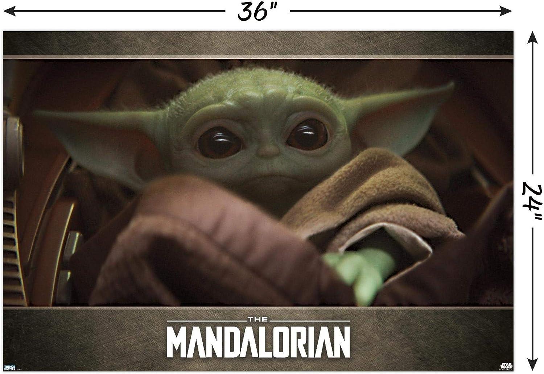 24 x 36 Eyes Wall Poster Unframed Version Trends International 24X36 Star Wars: The Mandalorian