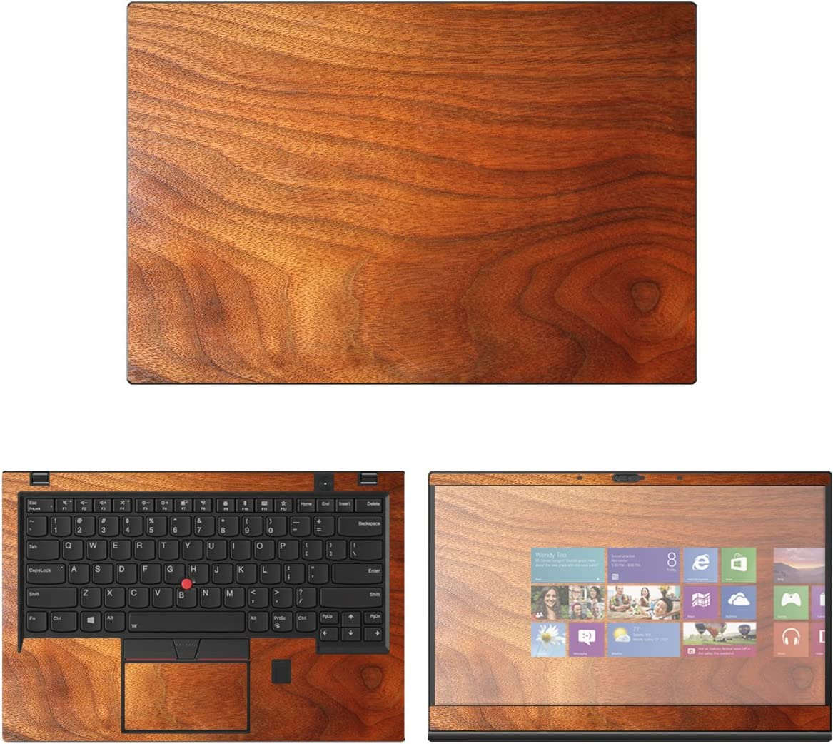 Decalrus - Protective Decal Wood Skin Sticker for Lenovo ThinkPad X1 Carbon (6th Gen.) (14