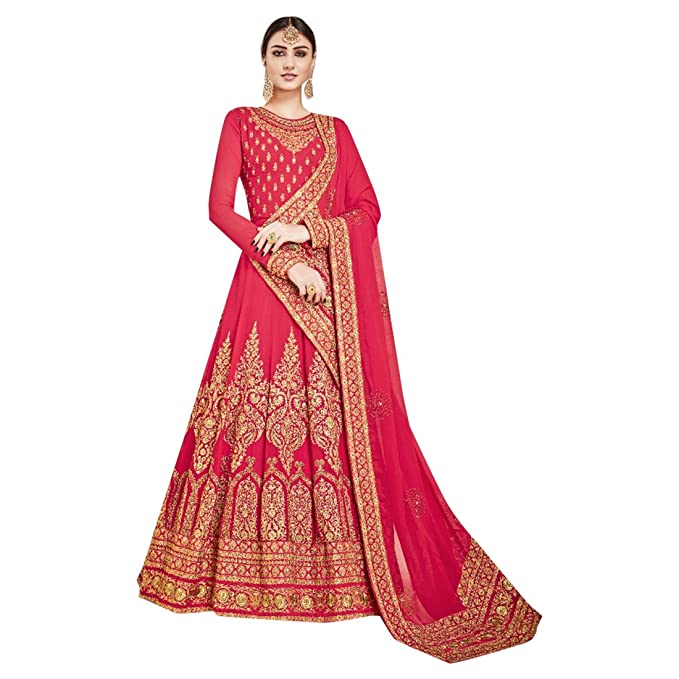 Amazon.com: Bridal Anarkali Salwar kameez Bollywood Suit ...