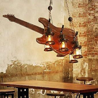 Lámpara colgante Colgante Lámpara de techo Madera Colgante de luz ...