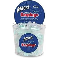 Mack's - Tapones originales para los oídos de espuma suave, 100 pares, envueltos individualmente, calificación de reducción de sonido de 32 dB, cómodos, para dormir, roncar, trabajo, viajes y eventos ruidosos