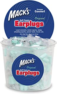 product image for Mack's Original Soft Foam Earplugs -100 Pair - Individually Wrapped - 32dB Highest NRR, Comfortable Ear Plugs for Sleeping, Snoring, Work, Travel and Loud Events