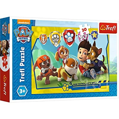 Trefl Paw Patrol Puzzle, Ryder and Friends, 30 Pieces Jigsaw Puzzles for Kids: Toys & Games