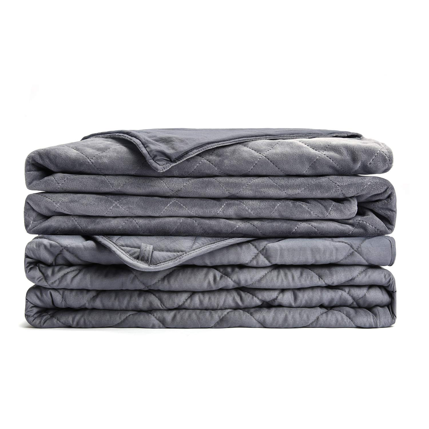 L'AGRATY Weighted Blanket for Adults with Removable Cover (20 lbs, 60x80, Queen Size) | A Luxurious Combination Tranquility Blanket | No Bead Mission, Uniform Distribution. by L'AGRATY