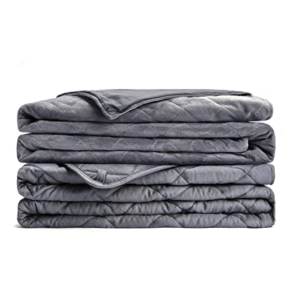 Amazon.com  L AGRATY Weighted Blanket for Adults with Removable ... 433fc83da