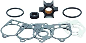 EMP Water Pump Impeller Repair Kit for Mercury 35, 40, 45, 50, 60, 65, 70 Hp, Replaces 47-89983Q1, 47-89983T2, 18-3207 See Application Chart in Product Detail