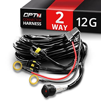 71Oq 1kKEYL._SY355_ amazon com opt7� 12 gauge 500w dual wiring harness w switch for  at soozxer.org