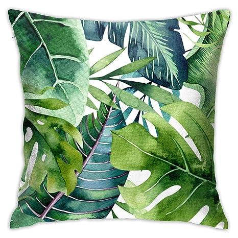 Jacklee Cotton Throw Pillow Case Funda de cojín Tropical ...