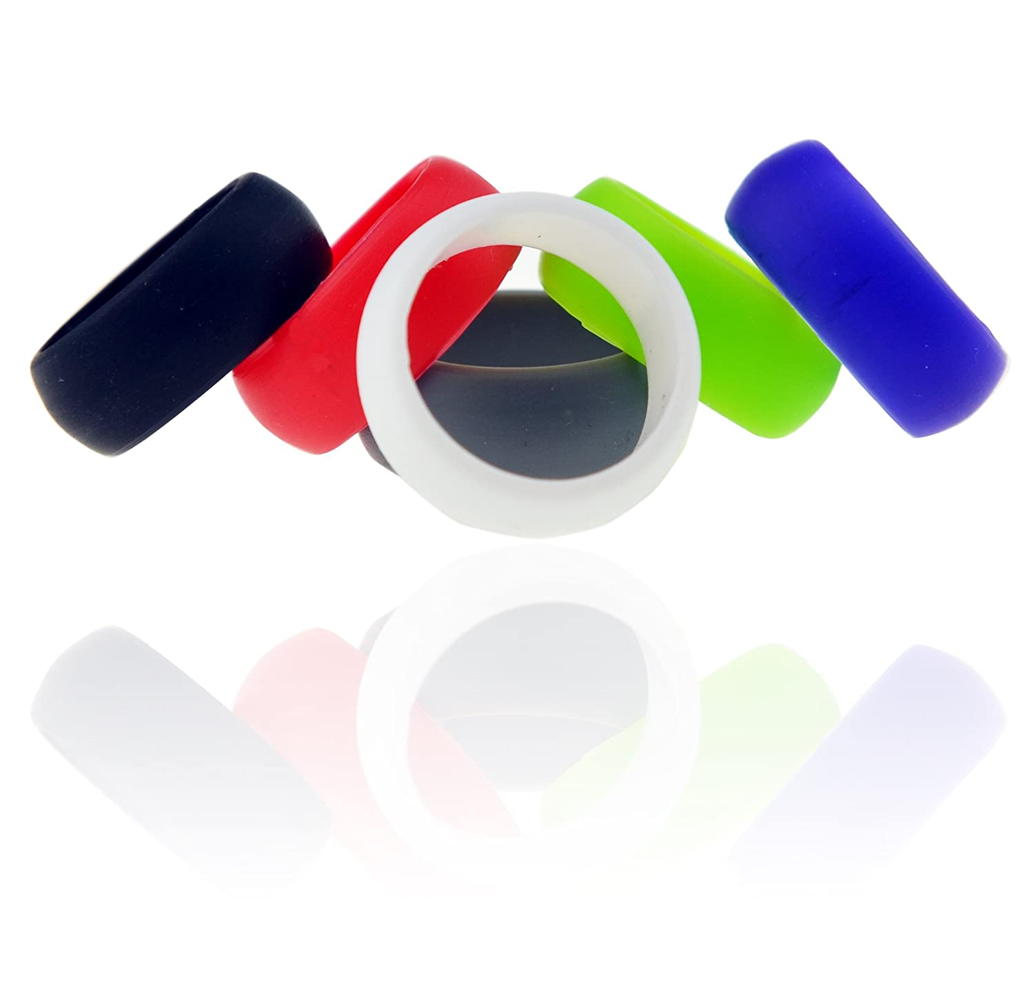 Amazon Silicone Wedding Ring by Orange Oyster 6 Pack Safe