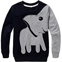 Boys Sweatshirts Elephant Pullover T-Shirts Toddler Cotton Cute Tops Tee Long Sleeve Outdoor Outfit