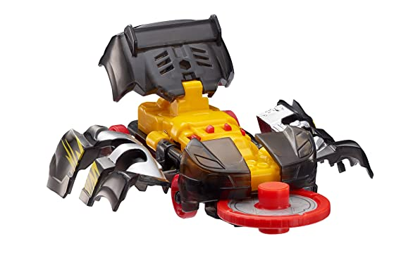 "Screechers Wild - Level 1 Nightweaver Flipping Morphing Toy Vehicle, 3"" X 1"", Black"
