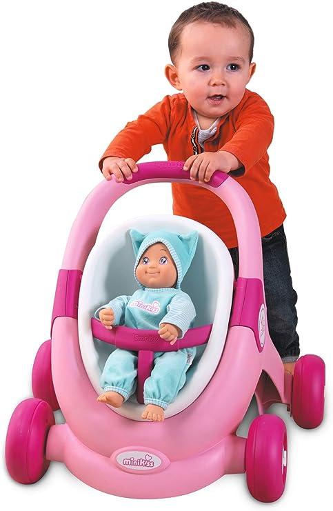 Amazon.com: Smoby 210205 Minikiss - Cochecito de muñecas 3 ...