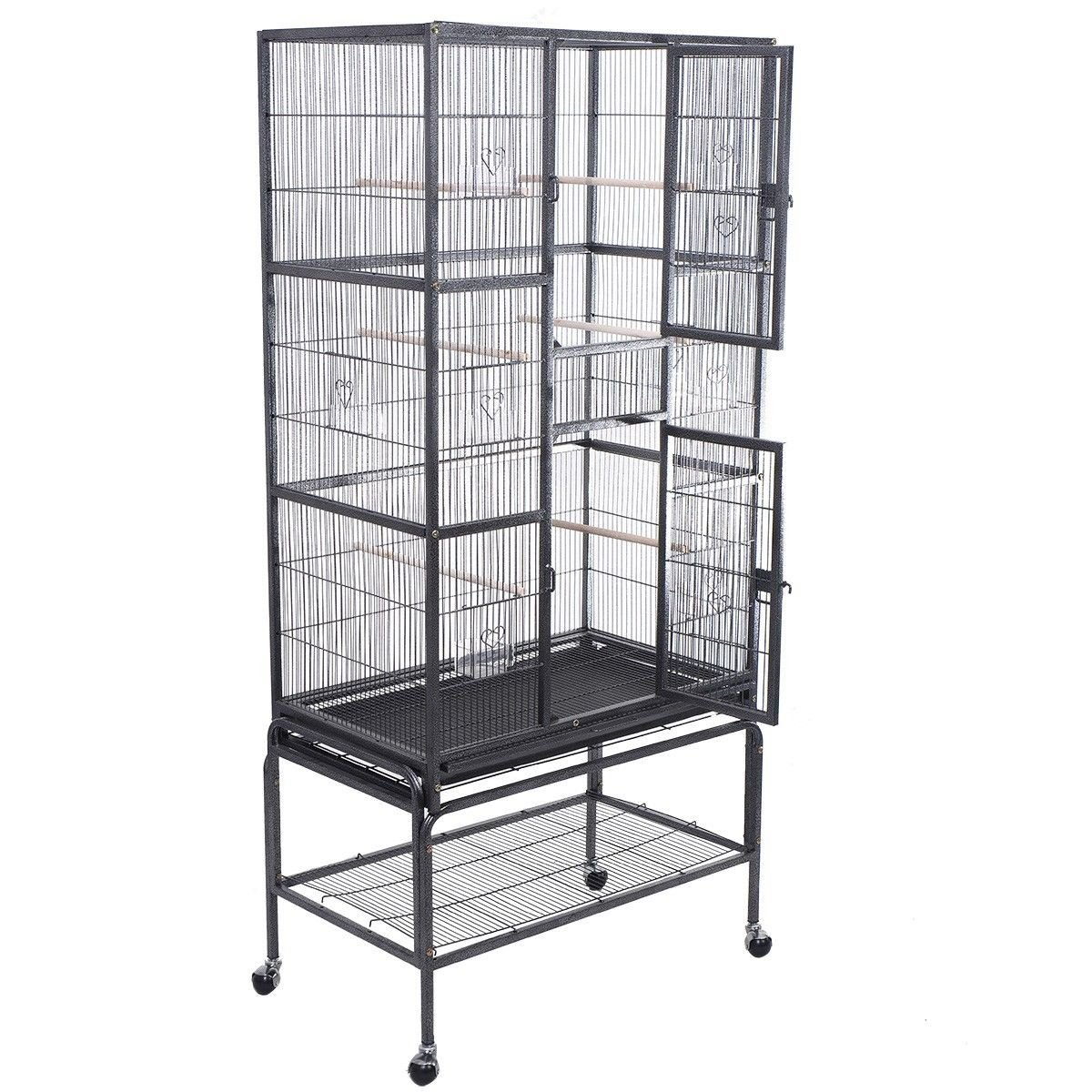 sc 1 st  Amazon.com & Amazon.com : Two Doors Bird Cage Large Iron With Stand : Pet Supplies