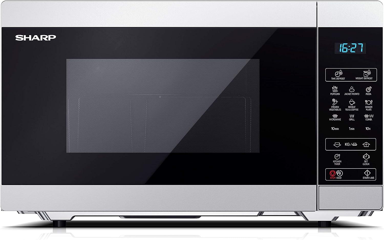 Microonda Sharp YC-MG51E-S Color Plata, 25 L - con Grill - Inox