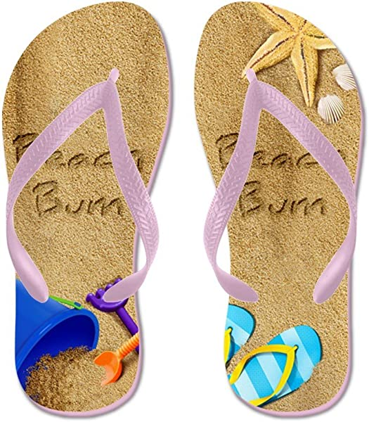 7efcae274 Amazon.com   CafePress - Beach Bum - Flip Flops, Funny Thong Sandals, Beach  Sandals Pink   Flip-Flops