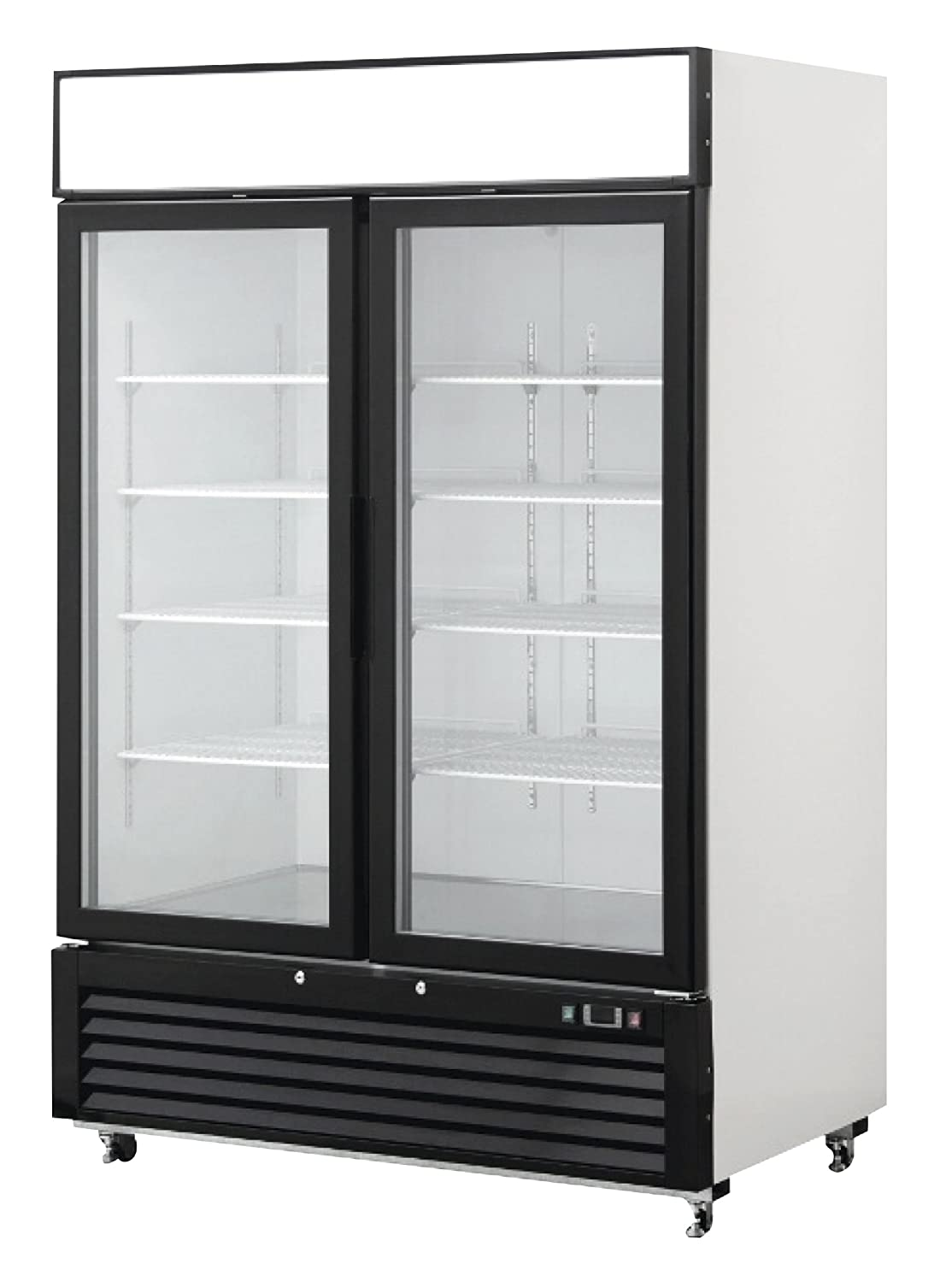 Commercial Refrigerators For Home Use Amazoncom 2 Door Commercial Glass Reach In Refrigerator