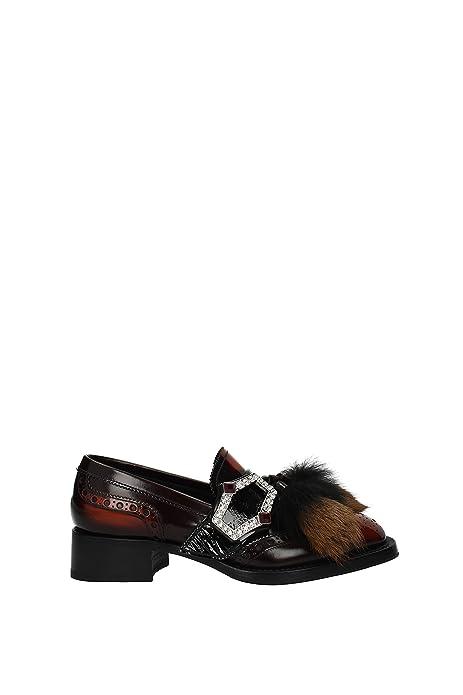 Mocasines Prada Mujer - Piel (1D879H) EU: Amazon.es: Zapatos y complementos