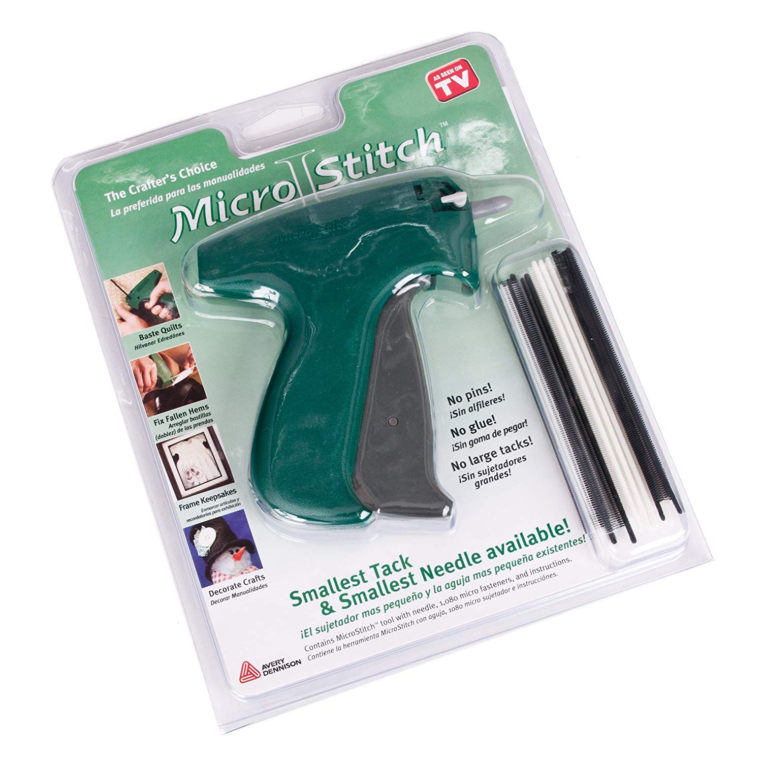 Amazon.com: Avery Dennison Micro Stitch Basting Gun with Free Tacks & Protective Needle Grate