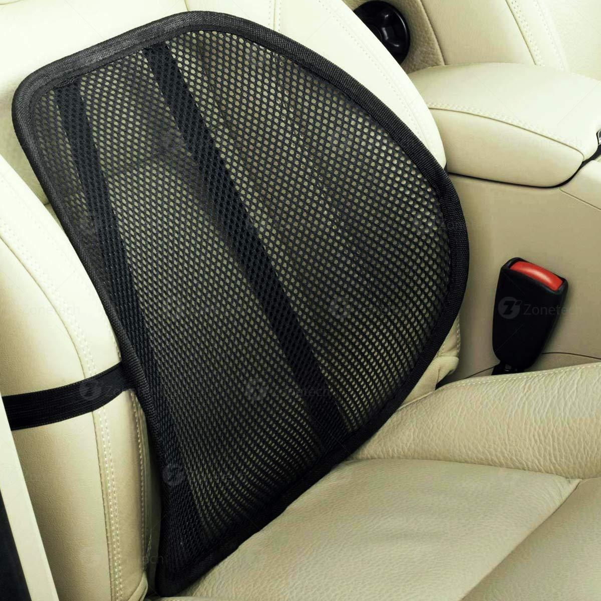 Zone Tech Set of 4 PosturePro Mesh Office Chair & Car Seat Lumbar Back Support