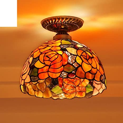 Amazon.com: Lujosa lámpara de techo retro en la puerta del ...