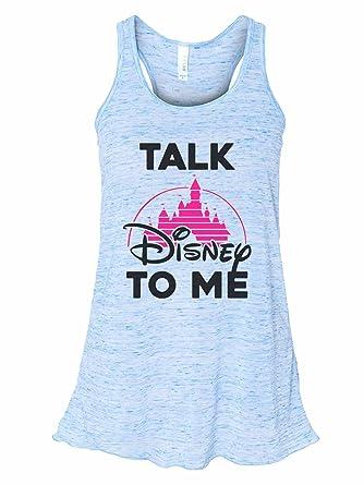 ed29e7566e2 Funny Threadz Women's Soft Bella Talk Disney to Me Disney Tank Top Small,  ...