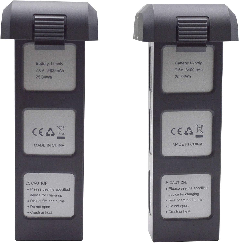 sea jump 2PCS 7.6V 3400mAh Lithium Battery for MJX Bugs 4W B4W D88 EX3 HS550