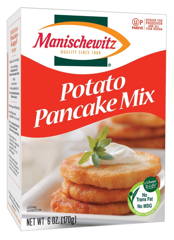 Manischewitz Potato Pancake Mix, 6-ounce Boxes (Pack of 12)